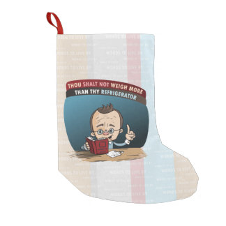 Funny Diet Losing Weight Small Christmas Stocking