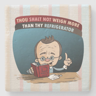 Funny Diet Losing Weight Stone Beverage Coaster