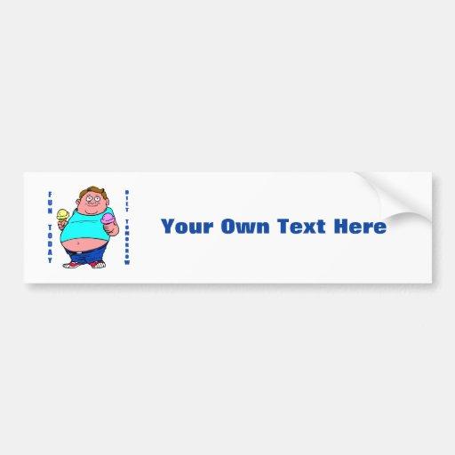 Funny Dieting Bumper Sticker