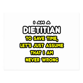 Funny Dietitian T-Shirts and Gifts Postcards