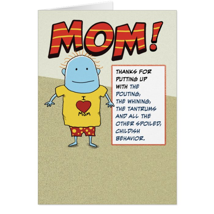 Funny Dig at Dad Mother's Day Card