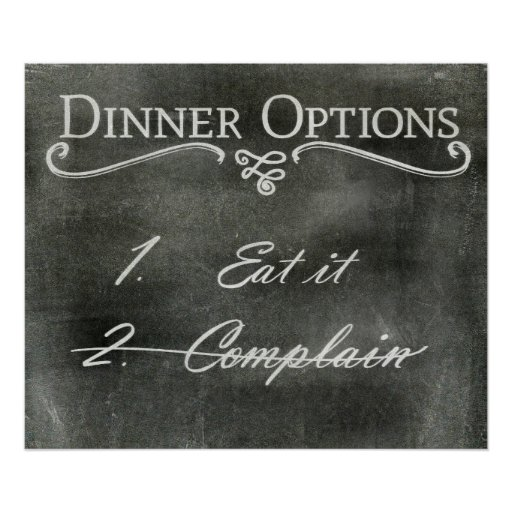 Funny dining room sign poster zazzle for Dining room posters