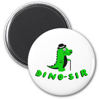 Funny DINO-SIR design 2 Inch Round Magnet