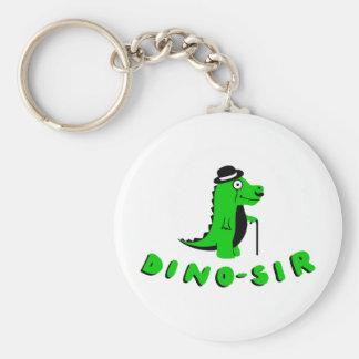 Funny DINO-SIR design Basic Round Button Keychain