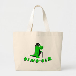 Funny DINO-SIR design Large Tote Bag