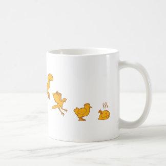 Funny Dinosaur and Chicken Evolution Classic White Coffee Mug