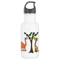 Funny Dinosaur and Giraffe Cartoon Stainless Steel Water Bottle