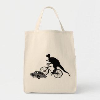 Funny Dinosaur Biking Tote Bag