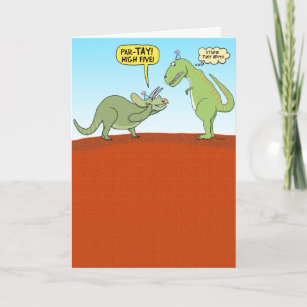 Funny Dinosaur Birthday Card