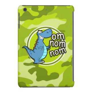 Funny Dinosaur; bright green camo, camouflage iPad Mini Case