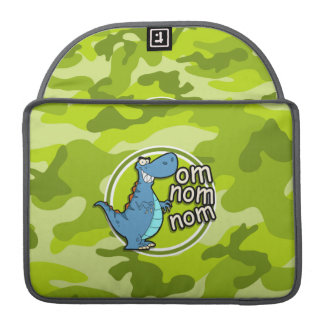 Funny Dinosaur; bright green camo, camouflage Sleeve For MacBooks