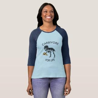 "FUNNY DINOSAUR ""CARBIVORE FOR LIFE"" T-Shirt"