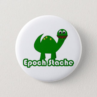 Funny Dinosaur Cartoon - Epoch Stache Button