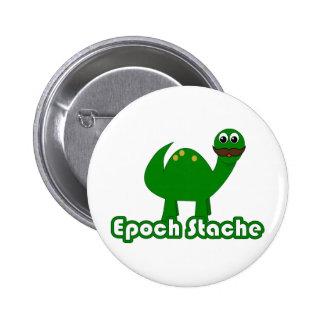 Funny Dinosaur Cartoon - Epoch Stache Button