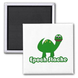 Funny Dinosaur Cartoon - Epoch Stache Magnet