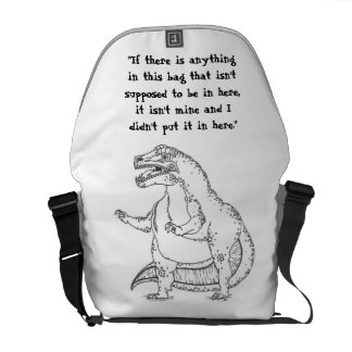 Funny Dinosaur Delivery Pouch Messenger Bag
