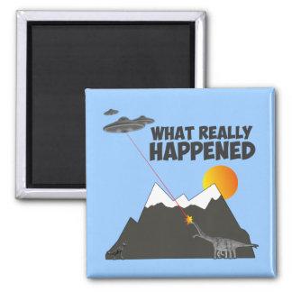 Funny Dinosaur extinction Magnet