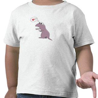 Funny Dinosaur in Love kid  shirt