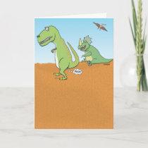 Funny Dinosaur Old Fart Birthday Card