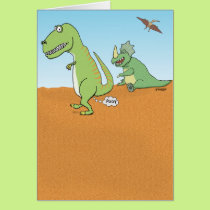 Funny Dinosaur Old Fart Birthday Card