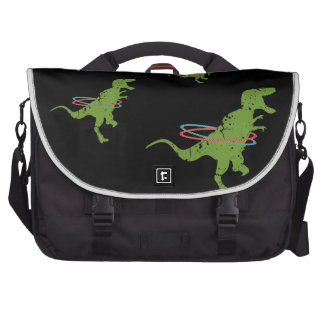 Funny dinosaur t-rex summer fun hoola hoops bags for laptop