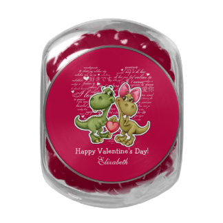 Funny Dinosaurs Valentine's Day Candy Tins