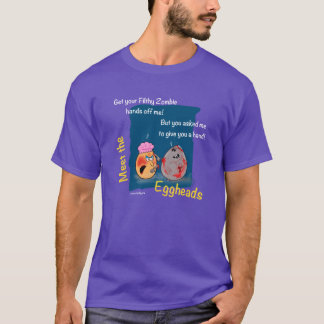 Funny Dirty Zombie Cartoon Gift eggheads by LeahG T-Shirt