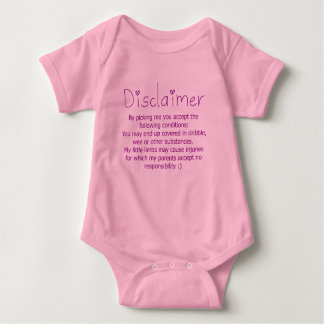Funny Disclaimer- Girl Baby Bodysuit