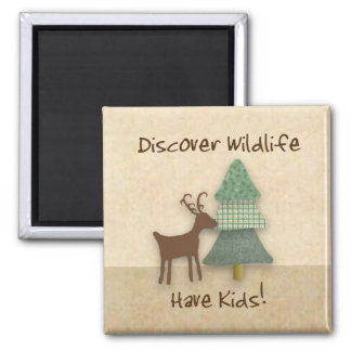 Funny Discover Wildlife Magnet