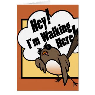 FUNNY DISGRUNTLED BIRD GREETING CARD