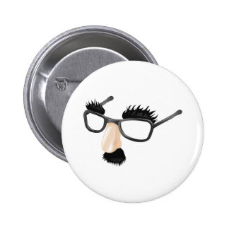 Funny disguise illustration button