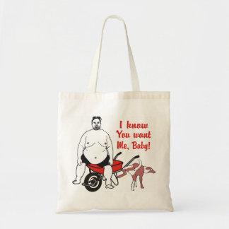 Funny Disgusting Fat Man Tote Bag