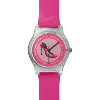 Funny Diva Pink Girly Design Wrist Watch