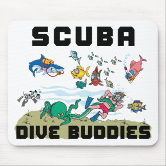 Funny Dive Buddy SCUBA Dive Buddy Mouse Pad
