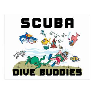 Funny Dive Buddy SCUBA Dive Buddy Postcard