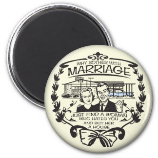 Funny Divorce 2 Inch Round Magnet