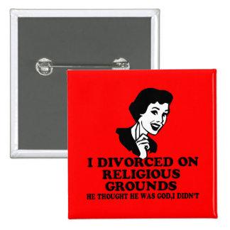 Funny divorce 2 inch square button