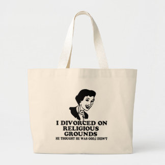 Funny divorce canvas bag