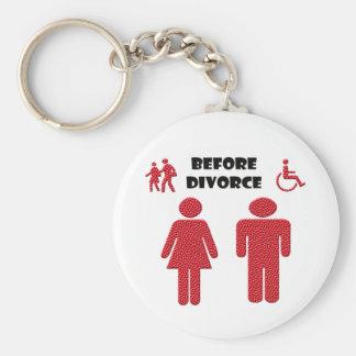 Funny Divorce Basic Round Button Keychain