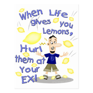 Funny Divorce / Ex-Husband Cartoon Postcard