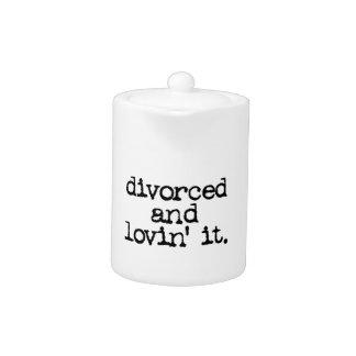 "Funny Divorce Gift ""Divorced and lovin' it."""