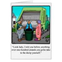 Funny Divorce Humor Greeting Card
