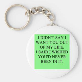 funny divorce joke keychain