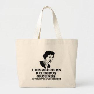 Funny divorce jumbo tote bag