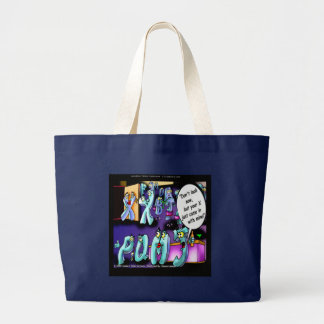 Funny Divorce My Ex & Yours Large Tote Bag