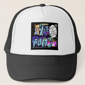 Funny Divorce My Ex & Yours Trucker Hat