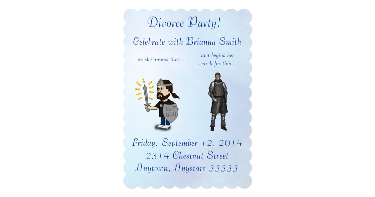 Funny Divorce Party Invitations. Una Casa Nueva tarjeta de ...