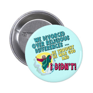 Funny Divorced T-shirts and Gifts For Her 2 Inch Round Button