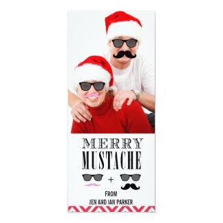 Funny DIY Mustache Sunglasses Holiday Photo Card