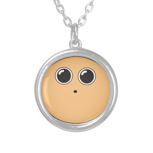 Funny dizzy animated face jewelry